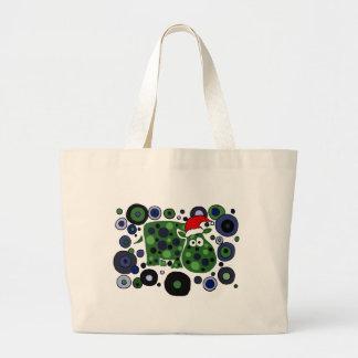 Awesome Hippo Christmas Art Abstract Bag