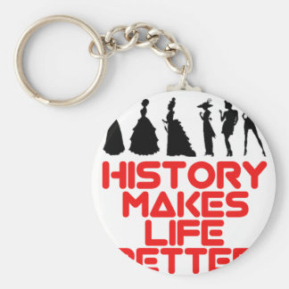 awesome History designs Basic Round Button Keychain