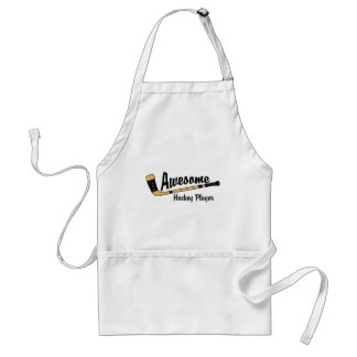 Awesome Hockey Player Adult Apron