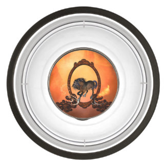 Awesome horse in a frame pet bowl