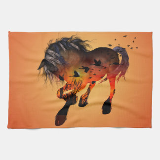 Awesome horse kitchen towel