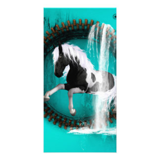 Awesome horse photo card