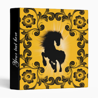 Awesome horse silhouette vinyl binder