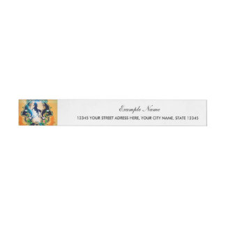 Awesome horse silhouette in black wraparound address label