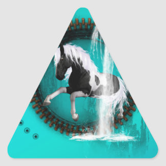 Awesome horse triangle sticker