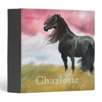 Awesome Horse Watercolor 3 Ring Binder