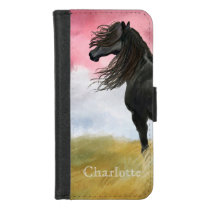 Awesome Horse Watercolor iPhone 8/7 Wallet Case