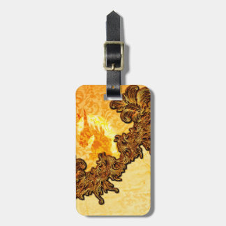 Awesome horse with vintage design bag tag