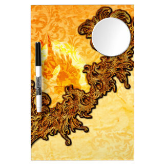 Awesome horse with vintage design dry erase board with mirror