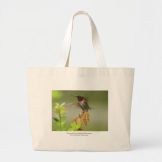 Awesome hummingbird large tote bag