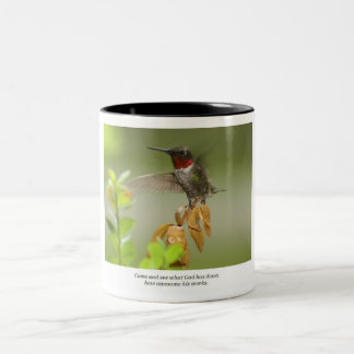 Awesome hummingbird Two-Tone coffee mug