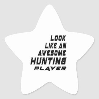 Awesome Hunting. Player Star Sticker