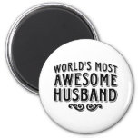 Awesome Husband 2 Inch Round Magnet