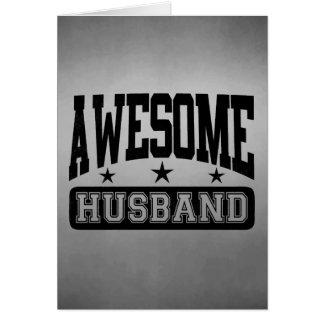 Awesome Husband Greeting Card