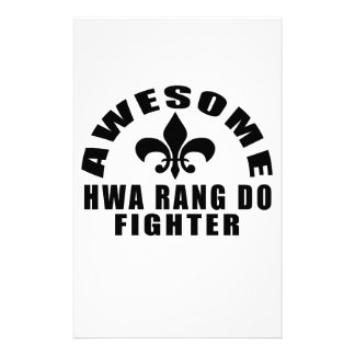 AWESOME HWA RANG DO FIGHTER STATIONERY