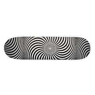 Awesome hypnotic 3D Skateboard. Skateboard
