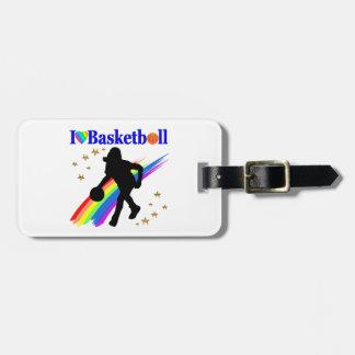 AWESOME I LOVE BASKETBALL DESIGN LUGGAGE TAG
