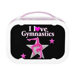 Awesome I Love Gymnastics Design Lunch Box at Zazzle