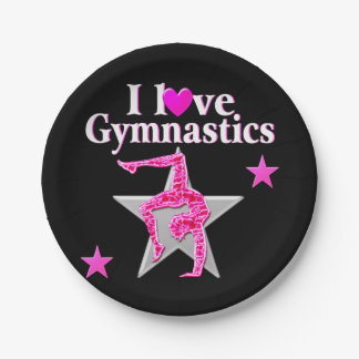 AWESOME I LOVE GYMNASTICS DESIGN PAPER PLATE