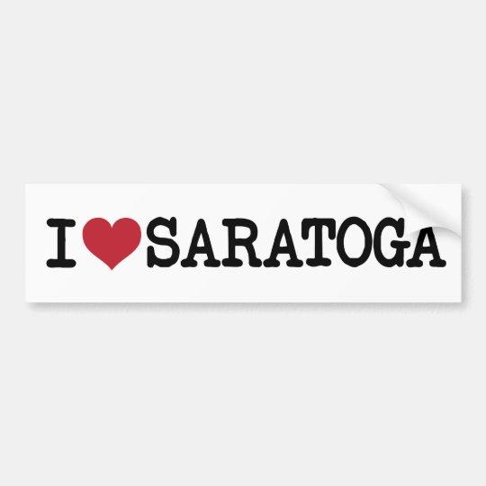 Awesome 'I Love Saratoga' Bumper Sticker