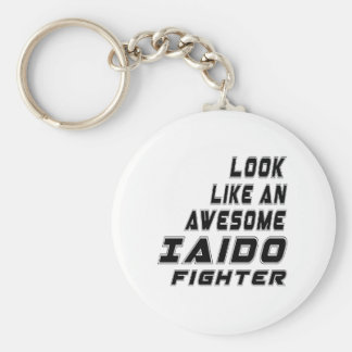 Awesome Iaido Fighter Basic Round Button Keychain