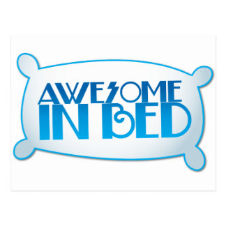 AWESOME in bed Postcard