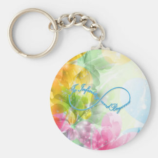 """Awesome Infinity symbol """"To infinity and beyond"""" Basic Round Button Keychain"""