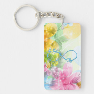 """Awesome Infinity symbol """"To infinity and beyond"""" Double-Sided Rectangular Acrylic Keychain"""