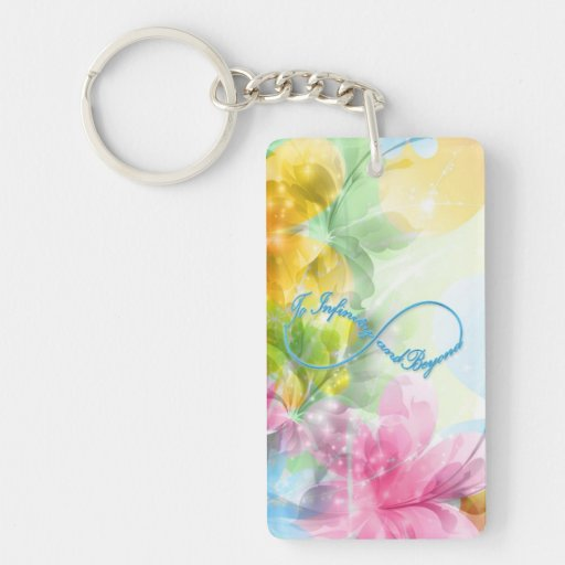 "Awesome Infinity symbol ""To infinity and beyond"" Rectangular Acrylic Keychain"