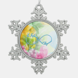"Awesome Infinity symbol ""To infinity and beyond"" Snowflake Pewter Christmas Ornament"