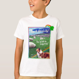 Awesome Ireland Coast Collie and Sheep Design #2 T-Shirt