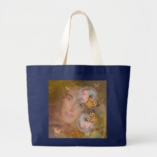 Awesome it's twins large tote bag