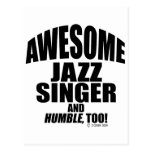 Awesome Jazz Singer Postcard