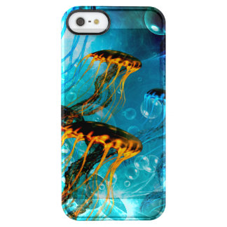 Awesome jellyfish,underwater world clear iPhone SE/5/5s case