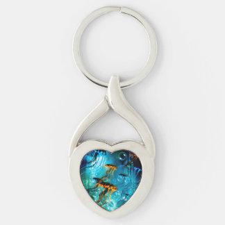 Awesome jellyfish,underwater world keychain