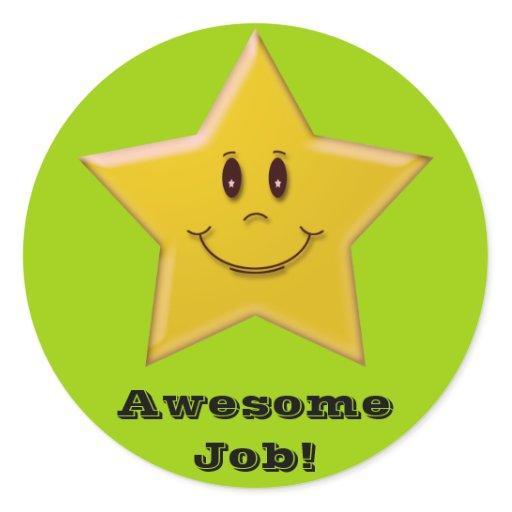 Awesome Job Sticker Zazzle