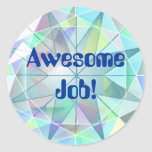 Awesome Job Treasure Bling Stickers