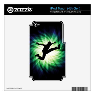 Awesome Jump Kick iPod Touch 4G Decal
