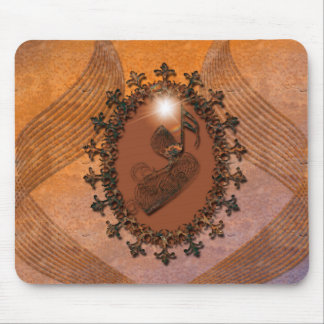 Awesome key notes made of rusty metal mouse pad