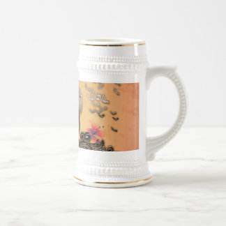 Awesome key notes 18 oz beer stein