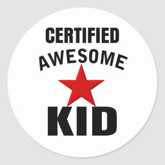 Awesome Kid Classic Round Sticker
