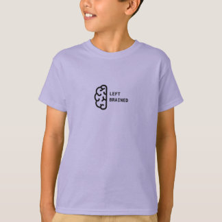 """Awesome Kid's T-Shirt with """"Left Brained"""" design"""