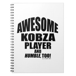 Awesome Kobza Player Spiral Notebook