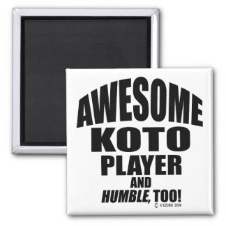 Awesome Koto Player Refrigerator Magnets