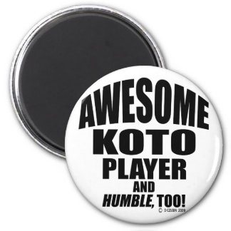 Awesome Koto Player Refrigerator Magnet