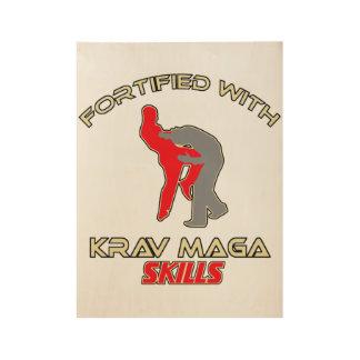 awesome Krav Maga designs Wood Poster