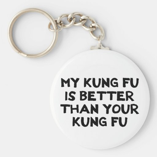 Awesome Kung Fu Button Basic Round Button Keychain