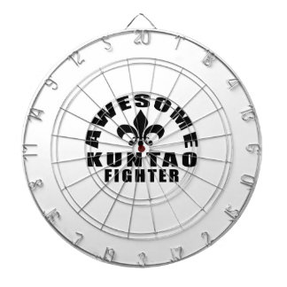 AWESOME KUNTAO FIGHTER DARTBOARD WITH DARTS