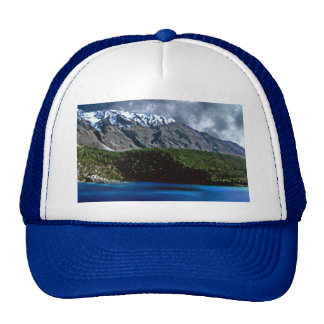 Awesome landscape on a cap mesh hat