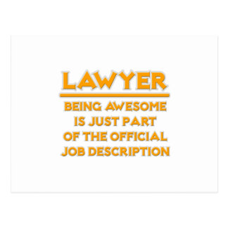 Awesome Lawyer .. Official Job Description Postcards